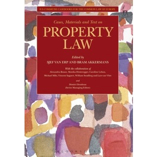 Property Law  Ius Commune Casebooks for a Common Law of Europe 2019-2020 P